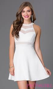 white party dresses cheap ivory a line party dress promgirl