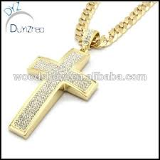 hip necklace chain images Mens gold iced out cross pendant hip hop 30 quot inch cuban necklace jpg