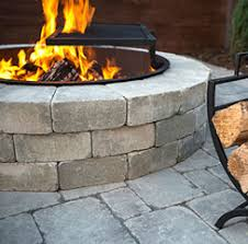 Square Fire Pit Kit by Firepits Unilock