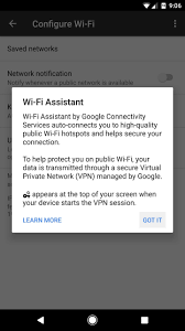 turn on google pixel u0027s wi fi assistant get secure access