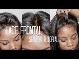 prett hair weave in chicago how to sew in your lace frontal no hair out youtube