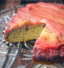 grain free rhubarb upside down cake u2014 foraged dish