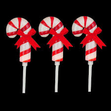 home accents holiday 19 in frosted candy cane pathway marker