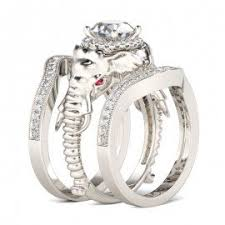 Jeulia Wedding Rings by Elephant Engagement Rings Elephant Jewelry Jeulia Jewelry