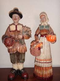 thanksgiving pilgrim statues nwt thanksgiving pilgrim set of 2 ceramic statue figurine