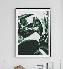 Home Interiors And Gifts Framed Art Banana Leaf Print Wall Decor Home Decor Digital Print