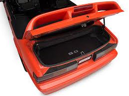 mustang convertible trunk lloyd mustang trunk mat w 5 0 logo black 93143 87 93 all