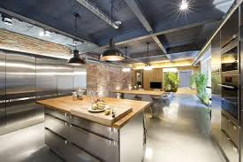 open plan kitchen dining u0026 living space loft style home in