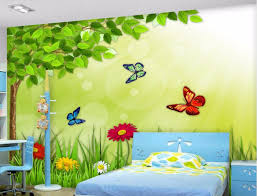 Online Buy Wholesale Roll Butterfly Wallpaper For Kids Room From - Butterfly kids room