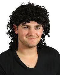 curly halloween wigs amazon com my costume wigs men u0027s curly black mullet wig black