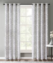 Echo Design Curtains Kamala Window Panel Pair Charcoal Echo Design