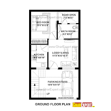 House Planing House Plan For 20 Feet By 35 Feet Plot Plot Size 78 Square Yards