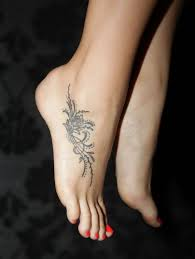 gorgeous black lace foot tattoo tattoomagz