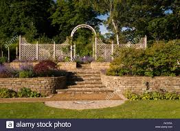 paving plants wall steps trellis arch and fence designed