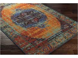 exotic turquoise and orange area rug u2013 classof co