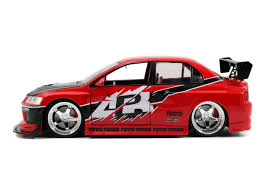 mitsubishi evo 8 red jada 1 18 fast u0026 furious sean u0027s mitsubishi lancer evolution 8