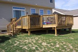 Patios And Decks Designs Exterior Backyard Deck Design And Landscaping Using