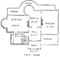 house plans with butlers pantry plans for a country villa circa 1875 house web