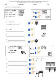 demonstrative pronouns worksheet by idalina