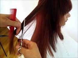 step cutting hair how to cut hair long hair cut inside out step by step 2 tutorial