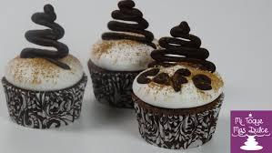 cupcakes de café capuchino con dulce de leche claudia zuñiga