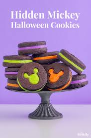 hidden mickey halloween cookies disney family