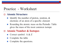atomic structure worksheet practice worksheet atomic structure