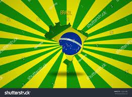 Brazil Flag Image Brazilian Flag Brazil Map Isolated On Stock Illustration 173281388