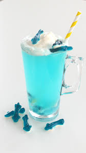 blue hawaiian cocktail shark ice cream float recipe tastemade