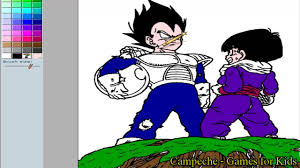 dragonball online coloring pages kid gohan and vegeta 41 youtube