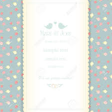 wedding invitation card with abstract floral background shabby