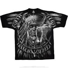dark fantasy wolf dreamcatcher black t shirt tee liquid blue