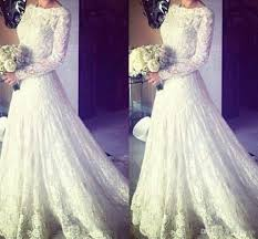 Wedding Dresses Discount Discount 2017 Muslim Wedding Dresses A Line Crew Long Sleeve