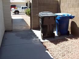 concrete trash can pads pouring concrete contractors az concrete