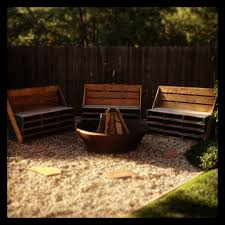 pallet benches around a fire pit yard ideas pinterest