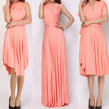 dress light coral infinity dress convertible dress bridesmaid