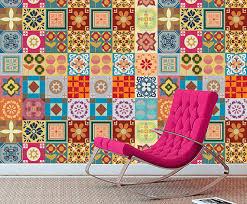 Tile Decals For Kitchen Backsplash Tile Decals Patchwork Tile Decal Kitchen Tile Stickers