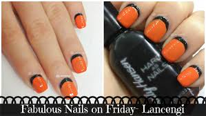 diy cute u0026 easy nail art designs 4 black u0026 orange nails youtube