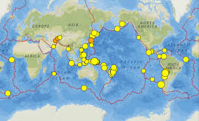 Oregon Earthquake Map by Papua New Guinea Iceland And California Earthquakes 22 28 July 2016