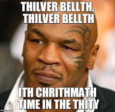 Merry Christmas Meme - merry chrithm sorry rry christmas from mike tyson imgflip