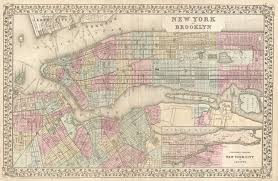 New York City On A Map by File 1882 Mitchell Map Of New York City New York Geographicus