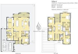 Dubai House Floor Plans La Quinta At Villanova By Dubai Properties 4 Bedroom Maid Villa
