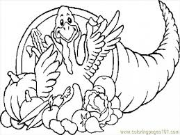thanksgiving cut and paste preschool cornucopia coloring page with