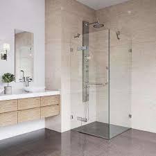 Shower Frameless Glass Door Frameless Shower Doors Showers The Home Depot