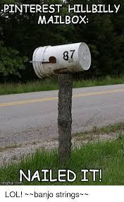 pinterest hillbilly mailbox nailed it mgflipcom lol banjo