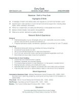 Sample Resume For Prep Cook by Sample Resumes