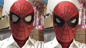 Cool Mask This Cool Spider Man Mask Has Functional Shutter Lenses U2014 Geektyrant
