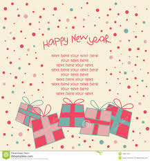 happy new year photo card happy new year card stock vector illustration of greeting 14967493