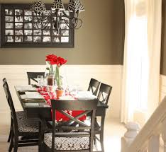 Red Dining Room Sets Dining Room 2017 Dining Room Decor On Table With Red Flower And