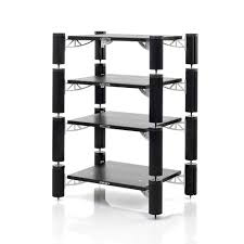 solid tech hybrid rack 4 black black hybrid 4 shelf audio rack w